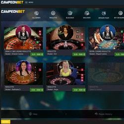 Live Campeonbet Casino sur Croupiers en Direct