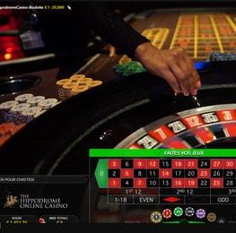 Roulette online en direct de l'Hippodrome Casino de Londres