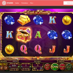 Machine à sous Reels Of Wealth de Betsoft sur Stakes Casino