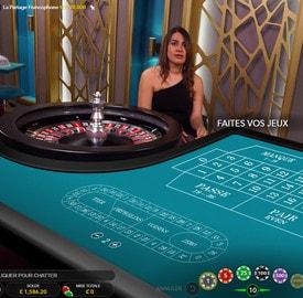 Roulette La Partage : roulette en ligne avec croupier francais