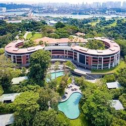L'Hotel Capella de Singapour ou se tiendra le sommet Trump-Kim Jong-un