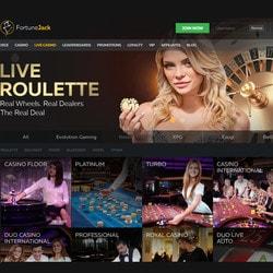 FortuneJack est un live casino bitcoin utilisant la technologie de 6 logiciels en direct