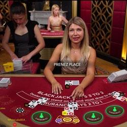 Live blackjack sur Easybet