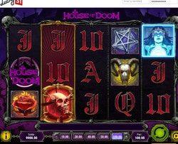 Capture d'ecran de la machine à sous House of Doom sur Lucky31 Casino