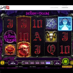Capture d'ecran de la machine à sous House of Doom sur Lucky31 Casino