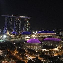 Marina Bay Sands de Singapour, haute attraction des touristes