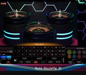 Auto Roulette 31 d'Authentic Gaming est une roulette électronique en ligne filmée depuis un studio