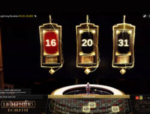Zoom sur la Lightning Roulette disponible sur Stakes Casino