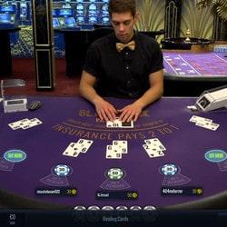 Table de live blackjack