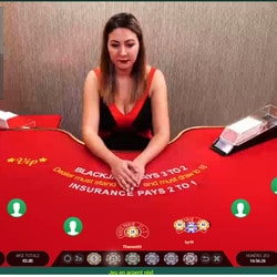 Blackjack en live Cresus Casino