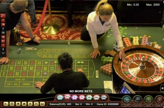 Live roulette en direct du Palace Casino de Bucarest