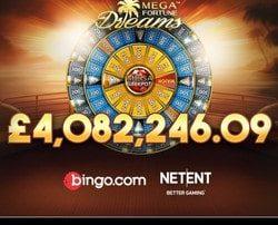 Jackpot progressif Mega Fortune Dreams de Netent