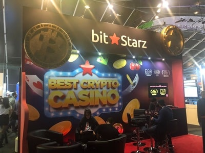 Stand de Bitstarz Casino au salon igaming de SIGMA 2018