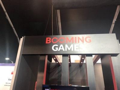 Stand du logiciel Booming Games au salon igaming de SIGMA 2018