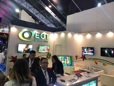 Stand du logiciel EGT au salon igaming de SIGMA 2018