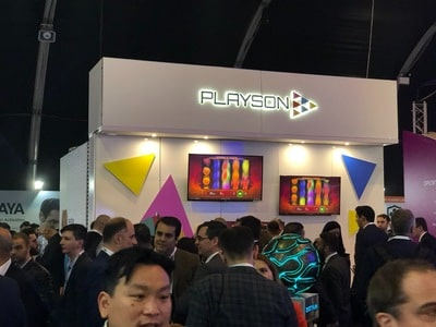 Stand du logiciel Playson au salon igaming de SIGMA 2018