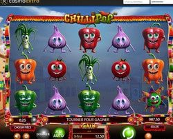 Machine à sous gratuite Chillipop sans inscription sur Casino Extra