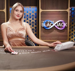 Table de black jack en ligne Infinite Blackjack d'Evolution Gaming