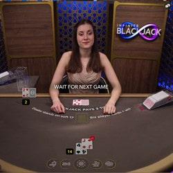 Infinite Blackjack, la table de black jack illimitée sur Lucky31