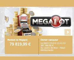 Le 8 janvier 2019, une joueuse a remporte le Megapot des Casinos Partouche au Casino de Nice