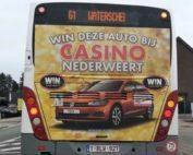 Publicité interdite sur des bus pour des casinos belges