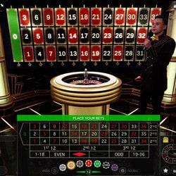 Roulette en ligne Lightning d'Evolution Gaming sur Lucky31