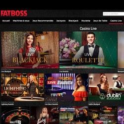 Fatboss, le live casino pour joueurs francophones