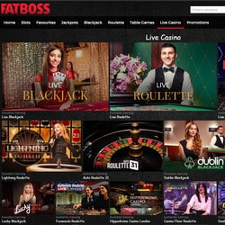 Casino en live FatBoss sur Croupiers en Direct