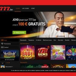 Publicité de Jean-Claude Van Damme qui joue sur Casino777