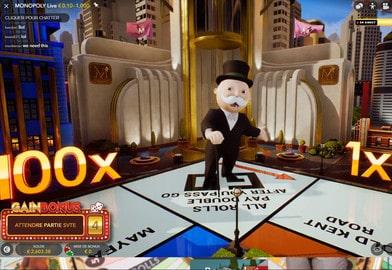 Jeu de Monopoly Live d'Evolution Gaming
