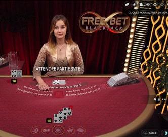 Table de jeu de blackjack en ligne Free Bet Blackjack