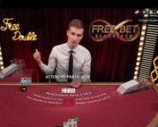 Table de jeu Free Bet Blackjack d'Evolution Gaming sur Fatboss