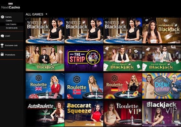 Next Casino, le live casino Evolution Gaming