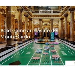 Bold Game du Casino de Monte-Carlo avec sa roulette grandeur nature