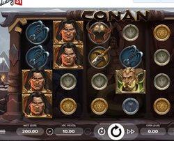 Jouer sur la machine a sous Conan de Netent sur Lucky31