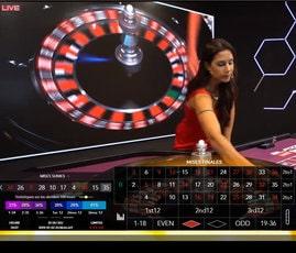 Table de roulette filmée en studio