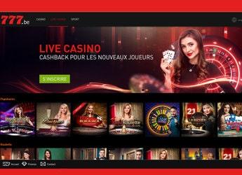 Casino777 est le Casino en ligne légal Numéro 1 en Belgique