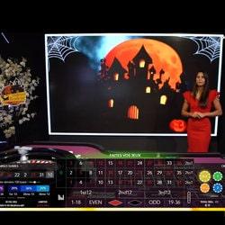 Live Arena aux couleurs d'Halloween sur la Blaze Roulette
