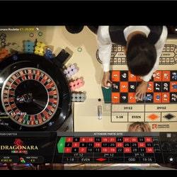 Table de roulette Dragonara dispo sur le casino en ligne bitcoin KingBit