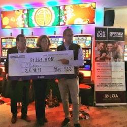 Une joueuse gagne plus de 50000€ sur une machine a sous progressive du casino Joa de Mandelieu