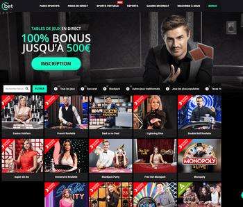 Casino en live Cbet sur Crpupiers en Direct