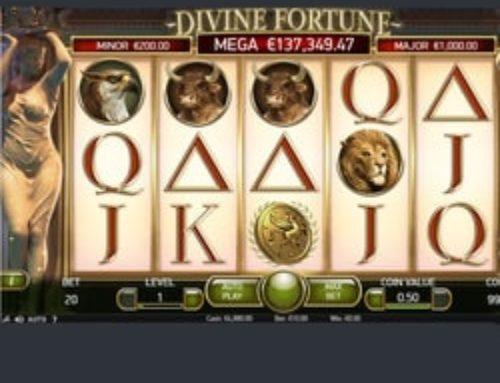 Le jackpot progressif de la machine à sous Divine Fortune tombe