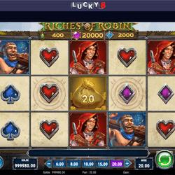 la machine à sous Riches of Robin de Play'n GO debarque sur Lucky8