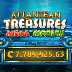 Jackpot progressif Atlantean Treasures Mega Moolah tombe sur River Belle Casino