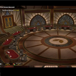 Lobby de First Person Baccarat d'Evolution Gaming