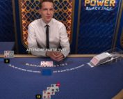 La table de black jack en live Power Blackjack sur Dublinbet