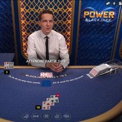 La table de black jack en live Power Blackjack sur Dublinbet