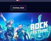 Machines à sous Play'n GO avec promo Festival Rock