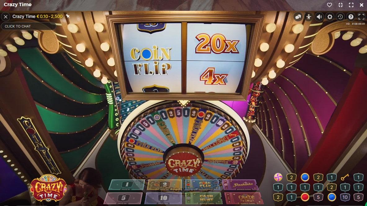 Multiplicateur de gains sur Craz y Time d'Evolution Gaming