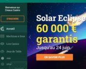 Promo Solar Eclipse de Cresus Casino avec tournois machines a sous playson